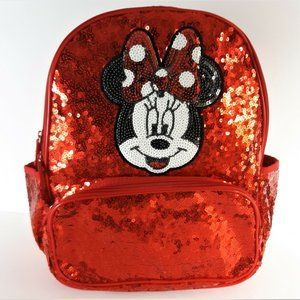 NWT CUTE!! Disney MINNIE MOUSE Red Sequin Backpack